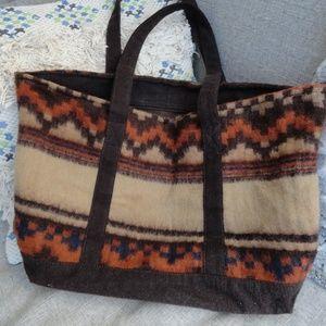 Indian Wool Bag - Large Boho Purse   VTG